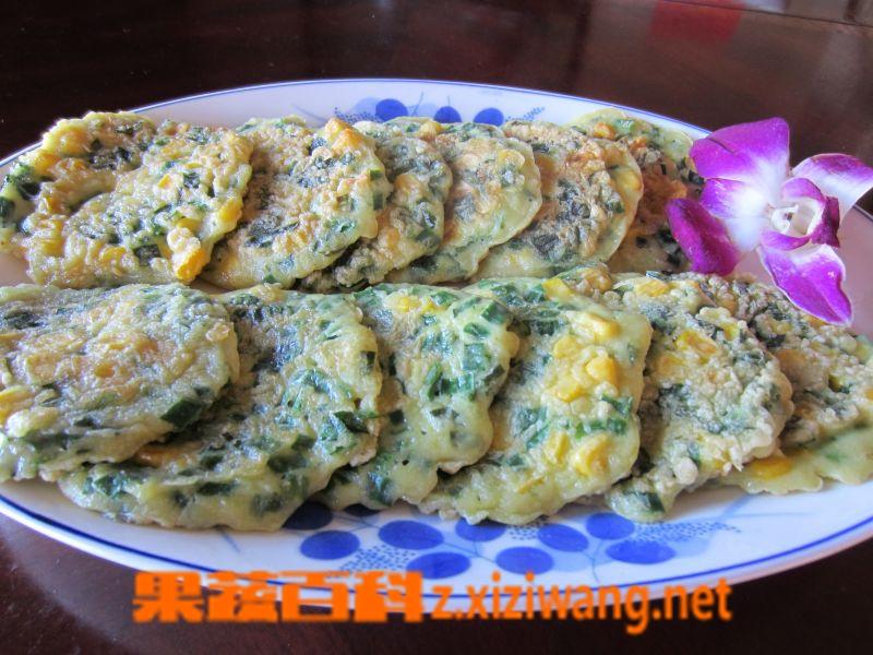 果蔬百科韭菜玉米饼